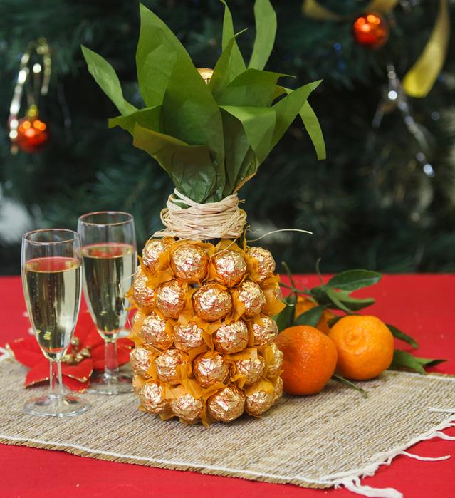 Упаковка шампанского на новый год своими руками