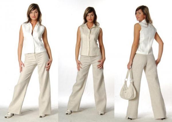 Льняные костюмы женские