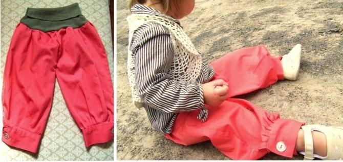 Штанишки для девочки своими руками 7