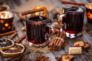 Hot wine for winter and Christmas
